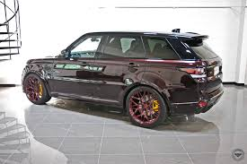 range rover modified red eye catching red paint on range rover sport with forged uv 1