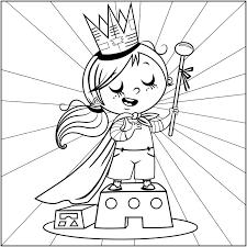 Coloriage Princesse pour petite fille a Imprimer Gratuit
