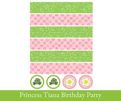 printable napkin rings princess and the frog birthday party printables omg gift emporium