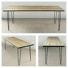 Remodelaholic How To Build A Desk With Wood Top And Metal Legs by Best 25 Plank Table Ideas On Pinterest Kitchen Farm Table