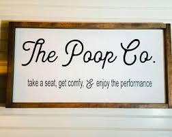 Bathroom Quotes For Walls Funny Bathroom Signs Etsy