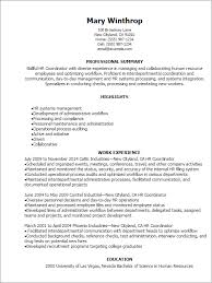 Hr Resume Format For Freshers Hr Coordinator Resume Template 1565 Plgsa Org