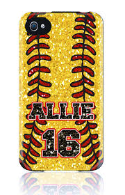 custom iphone 5 4s 4 samsung galaxy s3 siii phone case softball