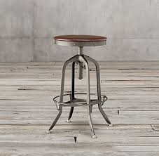 Restoration Hardware Bar Stool 1940s Vintage Toledo Collection Rh