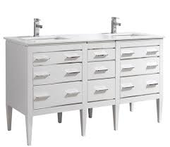 59 inch contemporary bathroom vanity white glossy finish pure