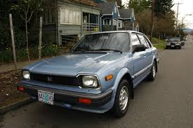 old parked cars 1981 honda civic