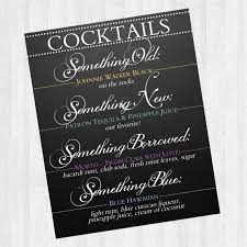 something new something something blue something borrowed cocktail bar sign wedding something something