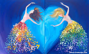 tutorial dance one more night dancing sisters acrylic easy canvas couple paint date night paint