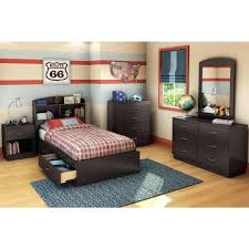 Mainstays Storage Bed With Headboard Headboards Twin Bed Frame With Bookcase Headboard Image Of