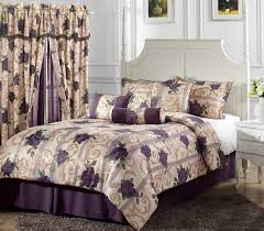 Amazon King Comforter Sets Amazon Com Chezmoi Collection 7 Piece Purple Rose Flower Garden