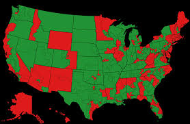 Us Blank Map by U S Congressional Districts What Do The Reds Have In Common How