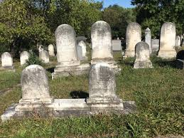cemetery stones mid 19th century burial stones in greenhill cemetery picture of