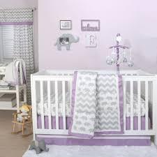 Grey Crib Bedding Sets Grey Elephant And Chevron Patchwork 3 Crib Bedding Set With