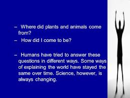 what is biology chapter 1 where did plants and animals come