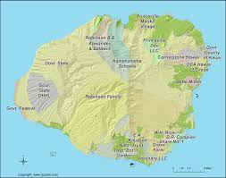 Land Ownership Map Kauai Landowners Map Kauai Major Land Tracts