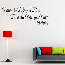 inspirational wall art stickers art decoration inspirational bob marley wall quote home decor decal