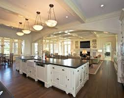 kitchen dining family room floor plans open plan and living google