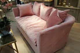Rosa Sofa Rosa Pink Velvet Sofa With Cushions Furniture La Maison Chic
