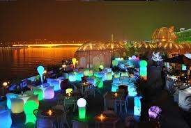 Led Outdoor Furniture - rechargeable waterproof rgb color party wedding led wine cooler