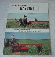 new holland 460 haybine 1964 brochure ebay
