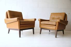 Danish Leather Armchair Pair Of Danish Leather Armchairs By Skipper Cream And Chrome