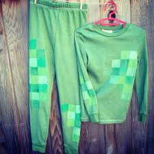 creeper costume diy minecraft creeper costume just add cardboard mask things i