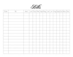 monthly payment template free printable attendance sheets private