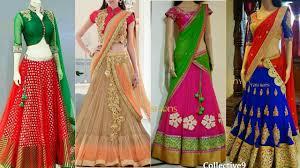 designer lehenga half saree designs 2017