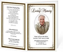 funeral programs exles 10 best images of memorial service program template