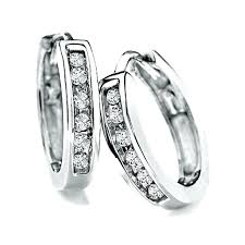 white gold huggie earrings white gold huggies earrings s 7ct mens white gold diamond huggie
