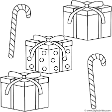 christmas gifts with candy canes coloring page christmas