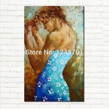 aliexpress com buy handpainted in blue daisy dress