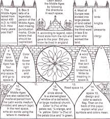 5 best images of worksheets printable middle ages middle ages