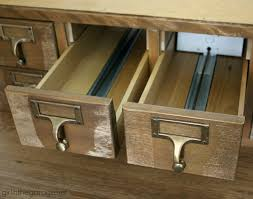 my new vintage card catalog in the garage