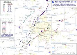 Oklahoma City Map May 3 1999 Oklahoma Kansas Tornado Outbreak
