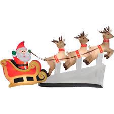 Outdoor Christmas Decorations Reindeer Sleigh by Christmas Santa Sleigh Reindeer Decoration U2013 Decoration Image Idea