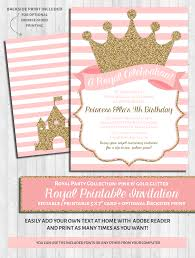 office depot invitations printing princess party invitations pink u0026 gold u2013 wonderbash
