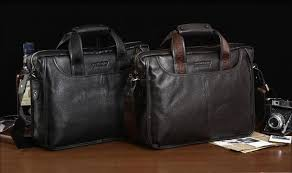 Cowhide Briefcase Bostanten Business Vintage Swiss Briefcase Natural Cowhide Men