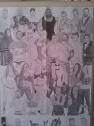 wwe pencil drawing top by milanrko on deviantart