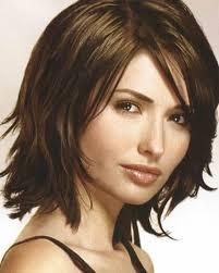 medium long layered hairstyle