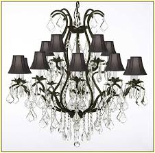 Wrought Iron Chandeliers Mexican Iron Chandelier With Shades Home Design Ideas
