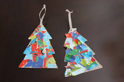 wrapping paper collage ornament allfreekidscrafts