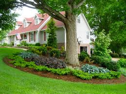 landscaping companies in michigan in the front yard with big trees