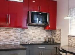 Grey And Red Kitchen Designs - new red kitchen cabinets with black glaze kitchen cabinets yeo lab