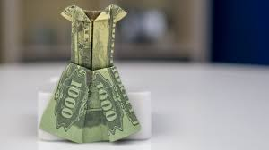 wedding gift of money money gift idea wedding dress dollar bill origami tutorial
