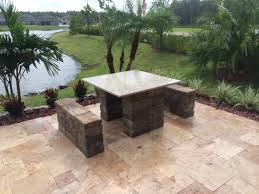 Travertine Patio Travertine Patio U0026 Custom Accents Elite Pavers Of Tampa Bay