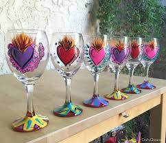 painted wine glasses diy crafty chica