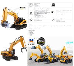 huina 570 rc excavator grapple