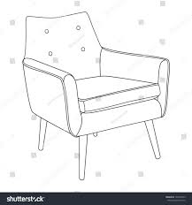 classic chair outline chair icon vector stock vector 120210343