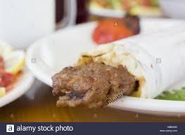 arabic wrap durum kebab food turkish stock photos durum kebab food turkish